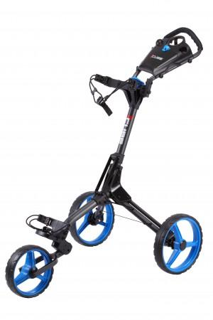 Cube 3 duw trolley     zwart / blauw