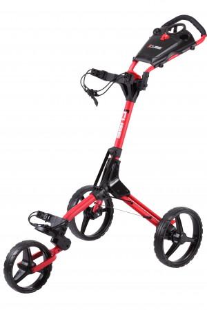 Cube 3 duw trolley   rood / zwart