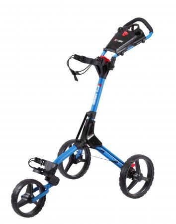 Cube 3 duw trolley       blauw / zwart