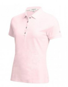 Calvin Klein Performance Cotton Pique Polo - Pale Pink