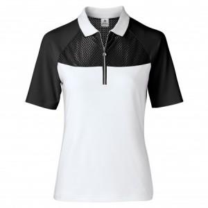Daily Sports - Domia 1/2 Sleeve Polo - Black/White