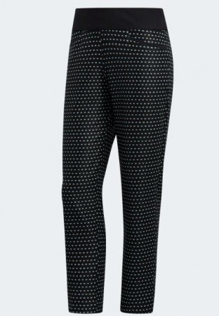 Adidas Printed Pull-On Ankle Pants - zwart/wit print