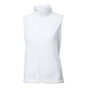 Backtee Ladies Fleece Vest - Wit