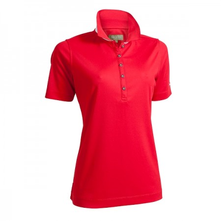 Backtee Ladies Quick Dry Performance Polo - Red