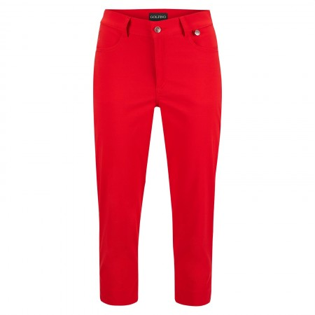 Golfino Ladies' Stretch Capri trousers - Scarlet