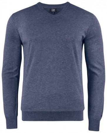 Cutter & Buck Oakville V-hals pullover - navy melange