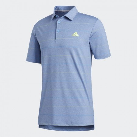 Adidas Ultimate365 Heathered Stripe Poloshirt - Light Blue