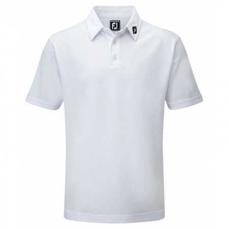 FootJoy Stretch Pique Solid Polo Athletic Fit - White