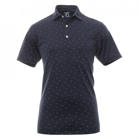 Footjoy Nautic Collection Performance Shirt - Navy with White