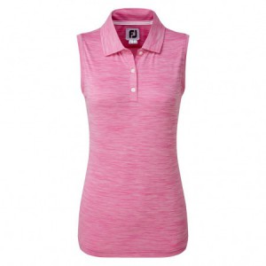 FootJoy Sleeveless damespolo - roze gemeleerd