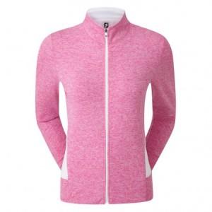 FootJoy stretch damesvest - roze gemeleerd met witte accenten