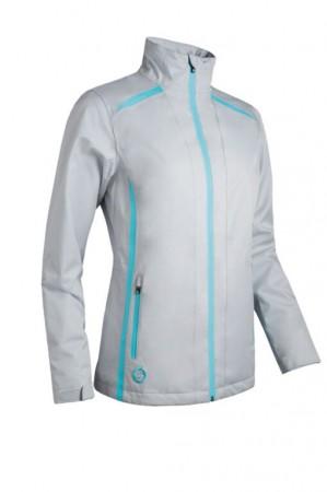Sunderland Ladies Waterproof Killy Golf Jacket - Silver/Aqua