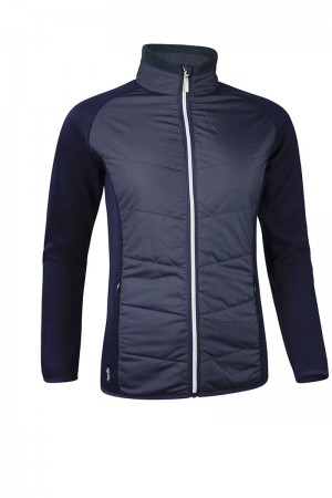 Glenmuir Front Pinstripe Quilted Performance Jacket - navy/silver