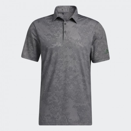 Adidas Camo Polo Shirt - Black / Grey Three