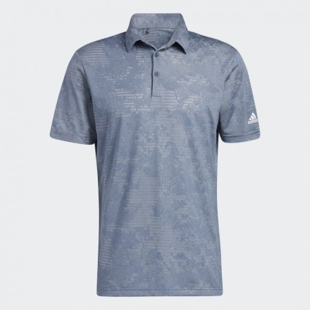 Adidas Camo Polo Shirt - Crew Navy / Grey Two