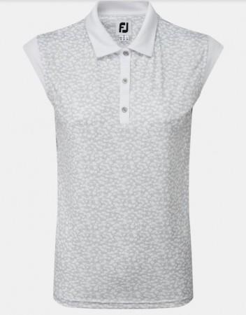 FootJoy Women's Cap Sleeve Print Interlock - wit/grijs