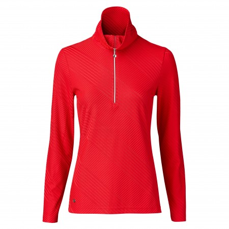 Daily Sports - Floy Longsleeve half neck - cardinal red