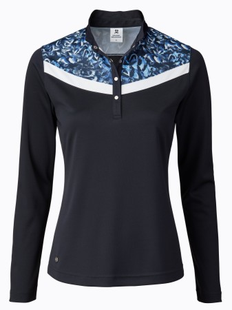 Daily Sports - Smille Longsleeve polo - Blue print